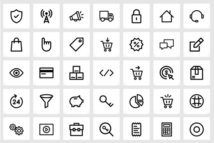 20个电子商务图标免费下载