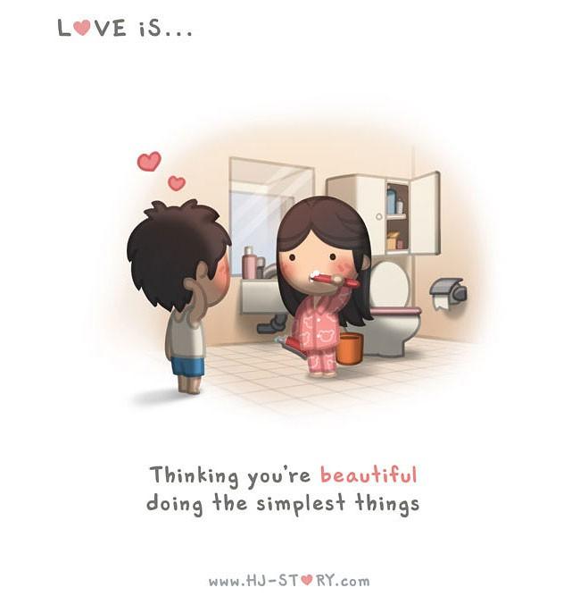 Andrew Hou 关于爱的漫画