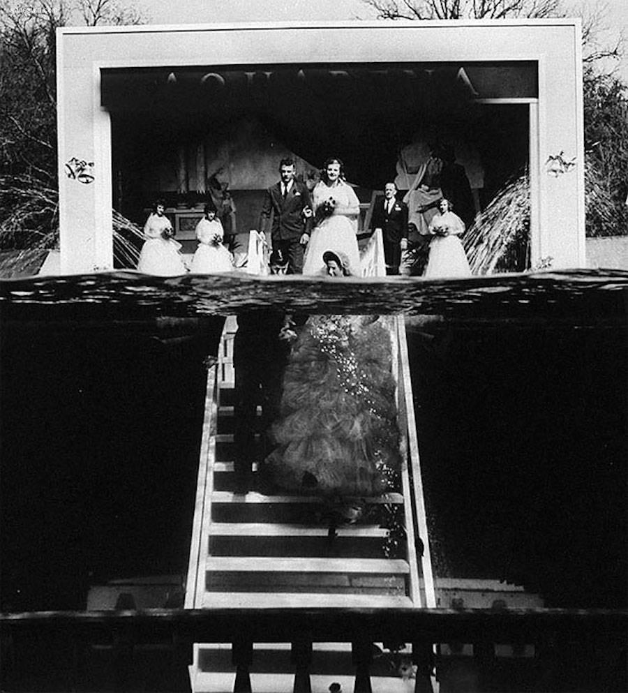 50年代水下婚礼摄影欣赏