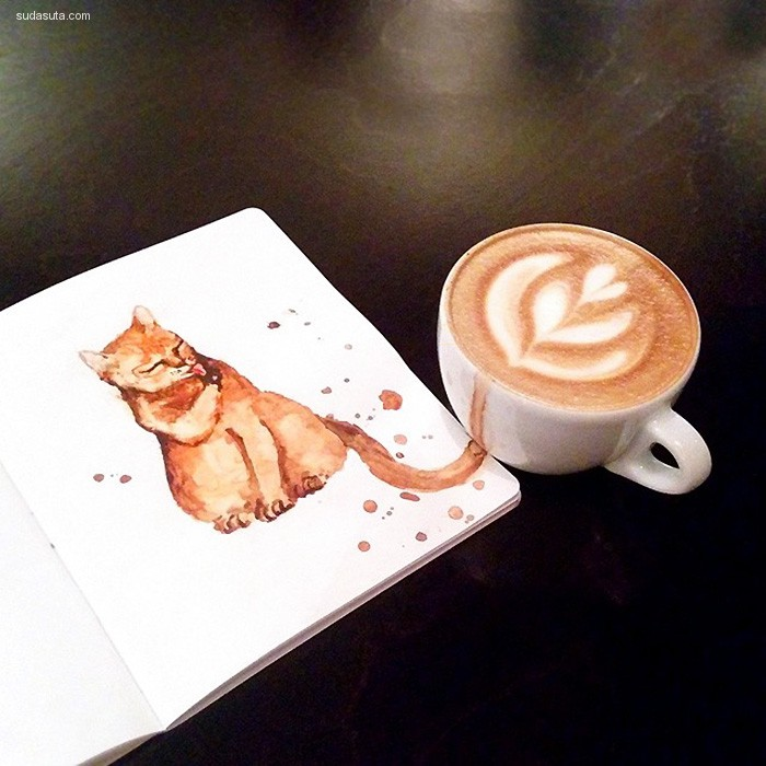 Elena Efremova 咖啡和猫