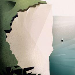 Iryna Korshak 带有纹理效果的漂亮的背景插画欣赏