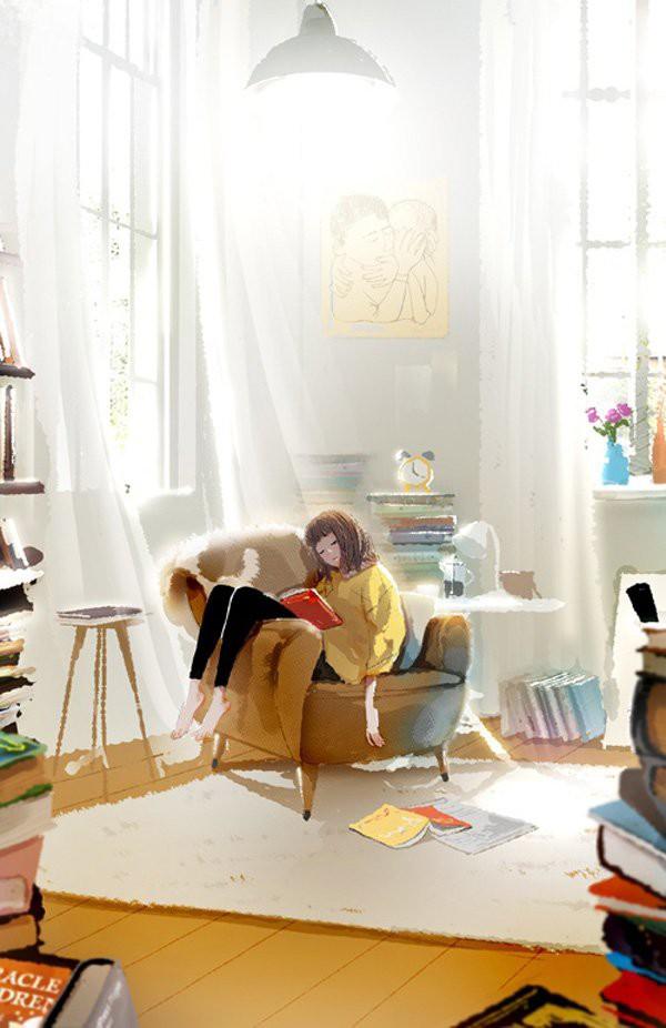 Ji Hyuk Kim 关于爱和幸福的手绘漫画