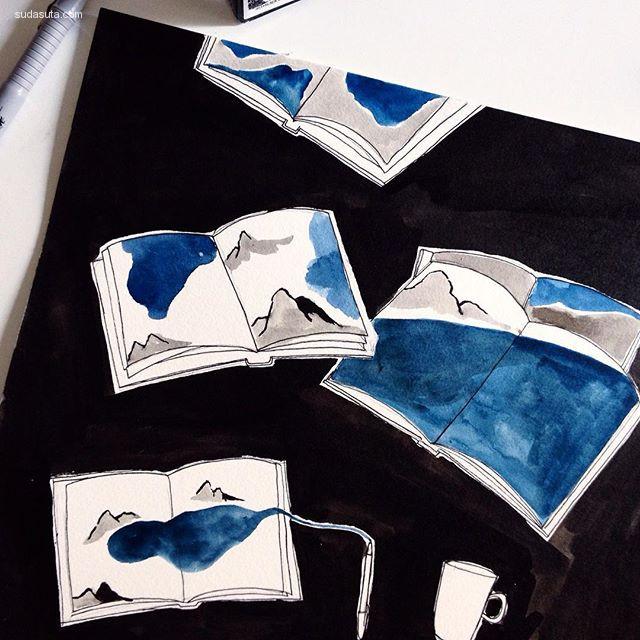 Julia Navarro 绘画艺术欣赏