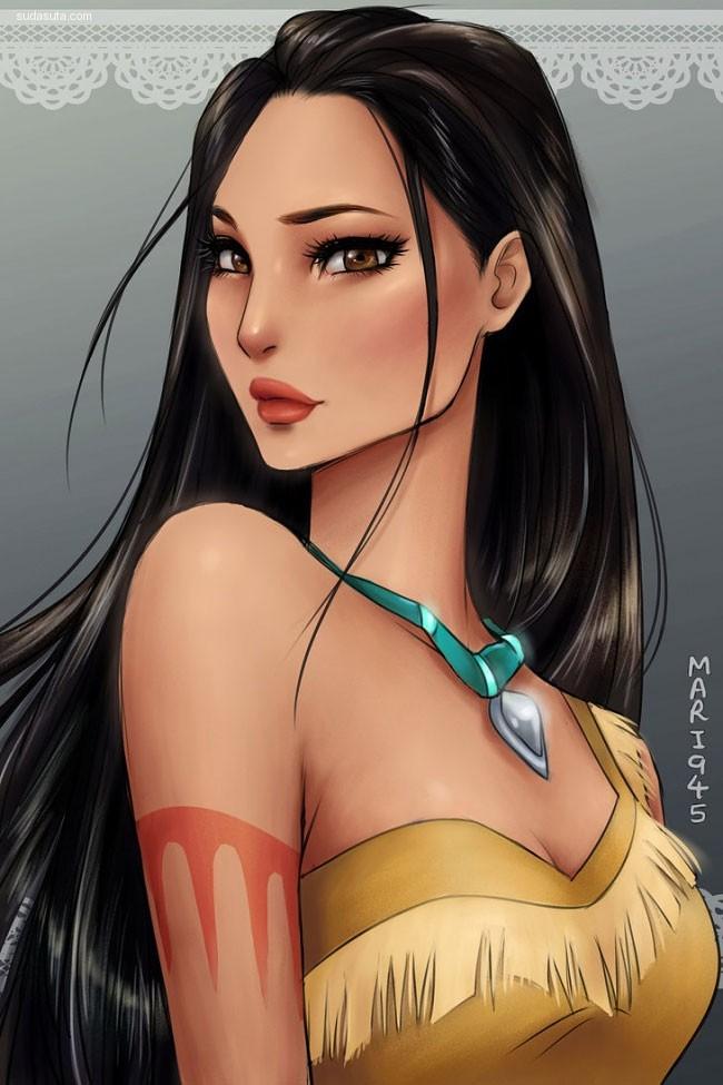 Maryam 迪士尼公主主题CG欣赏