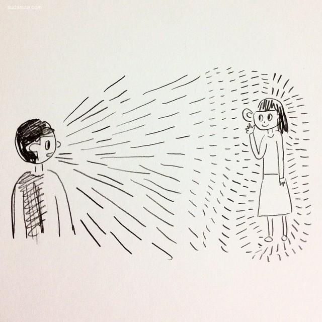 Nakyeng Hwang 幽默可爱的手绘漫画