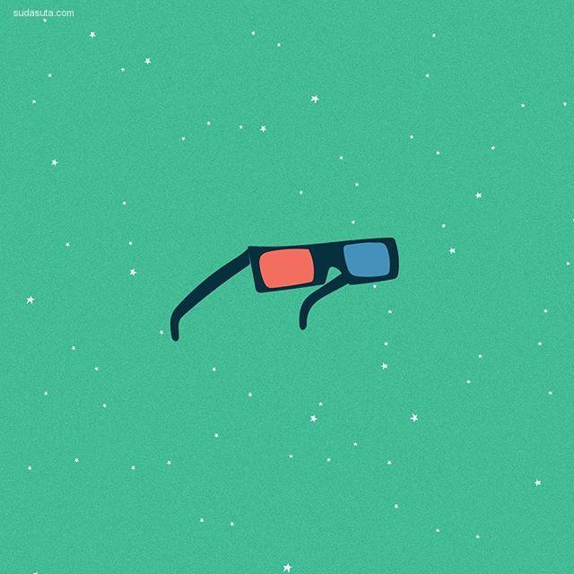Safwat Saleem 简约幽默的插画作品