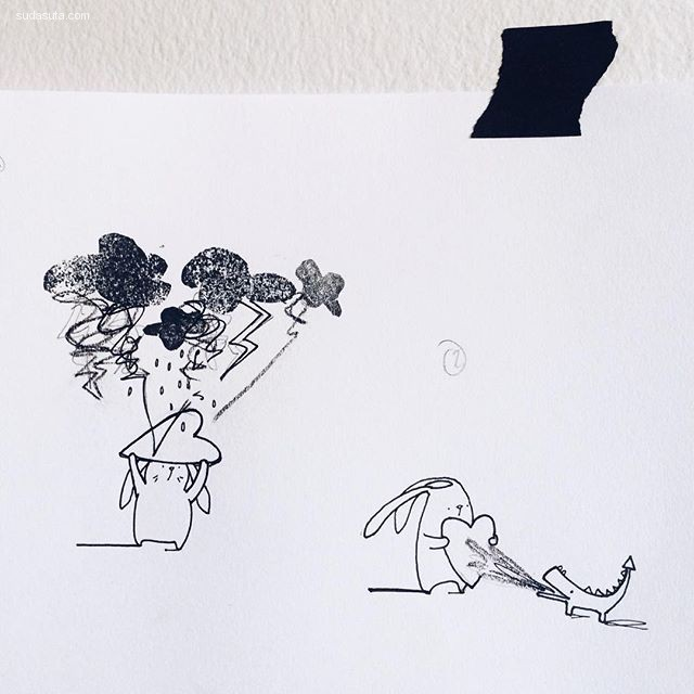 basakagaoglu 简约可爱的生活插画