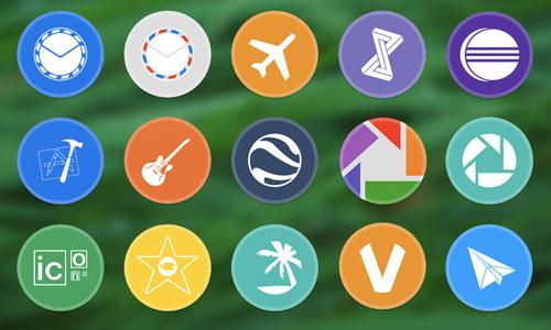 30+ 免费新鲜的圆形图标集下载分享