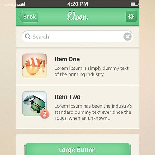 20+ 免费的移动应用UI套件资源分享