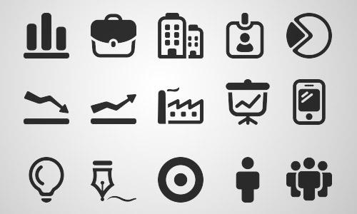 30+免费的商务图标分享下载