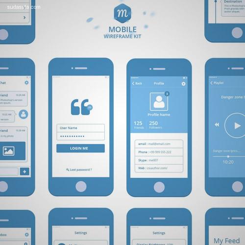 30+ 手机应用程序UI设计PSD素材免费下载