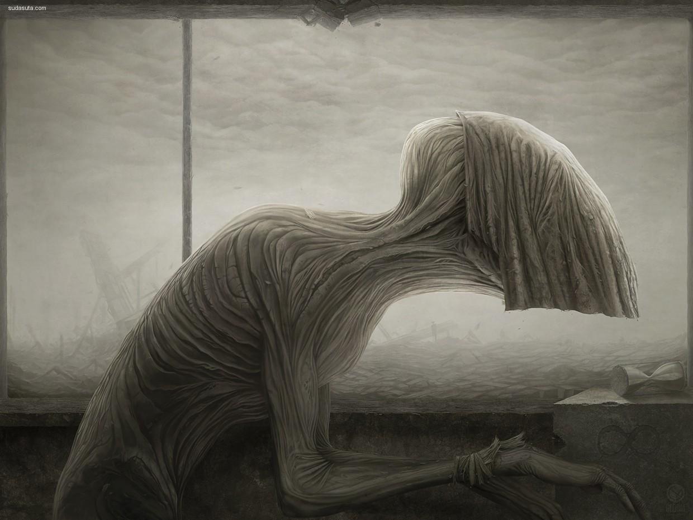 Anton Semenov 噩梦 数字艺术作品欣赏