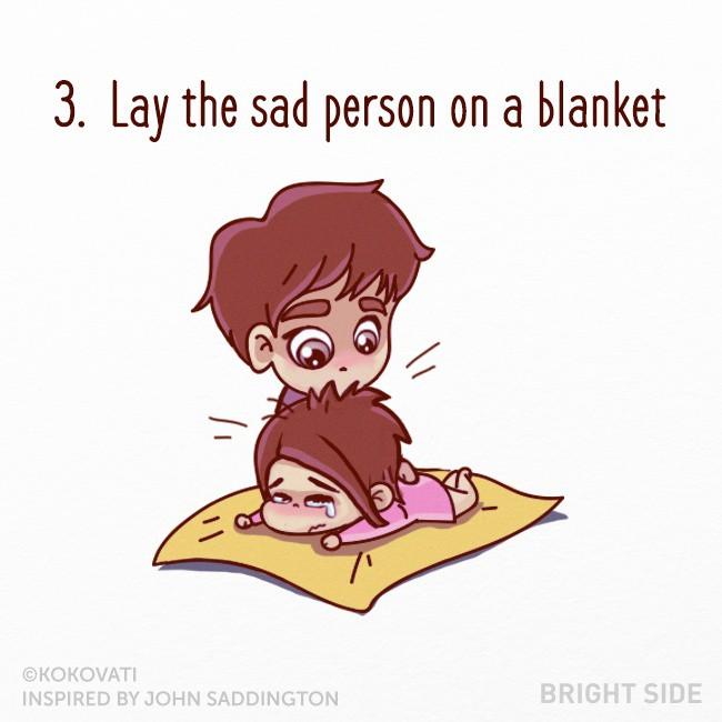 幽默漫画 如何安慰一个伤心的人?