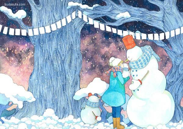 Casper 安静的蓝色插画