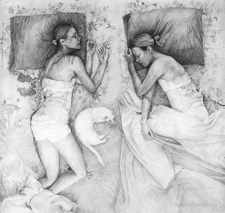 Christina Pettersson 古典主义手绘艺术欣赏