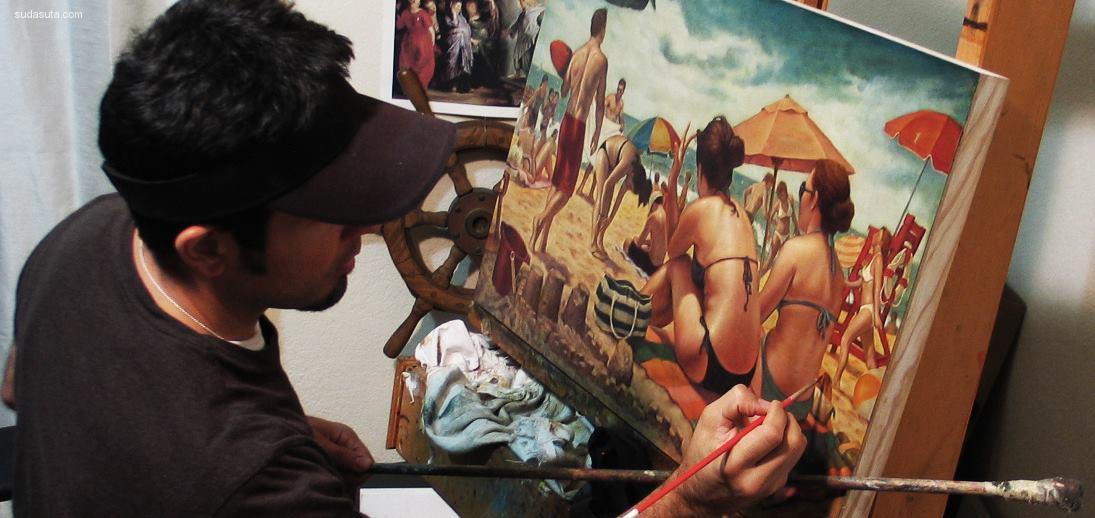 Danny Galieote 超现实主义复古风格手绘艺术欣赏