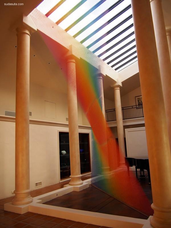 光线魔法师Gabriel Dawe 装置设计欣赏