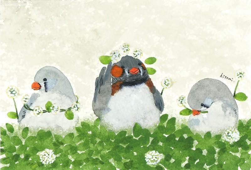 井上瞳(Hitomi Inoue)  儿童插画欣赏