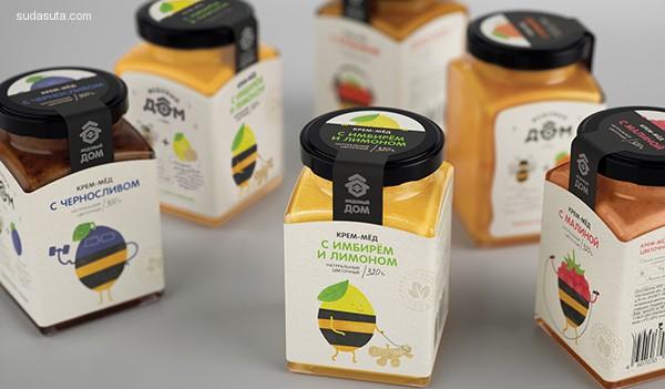Masha Ponomareva 蜂蜜和浆果 品牌包装设计欣赏