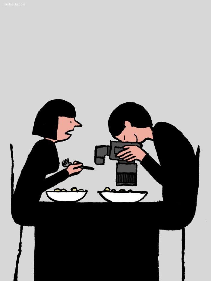 Jean Jullien 简约的讽刺漫画欣赏