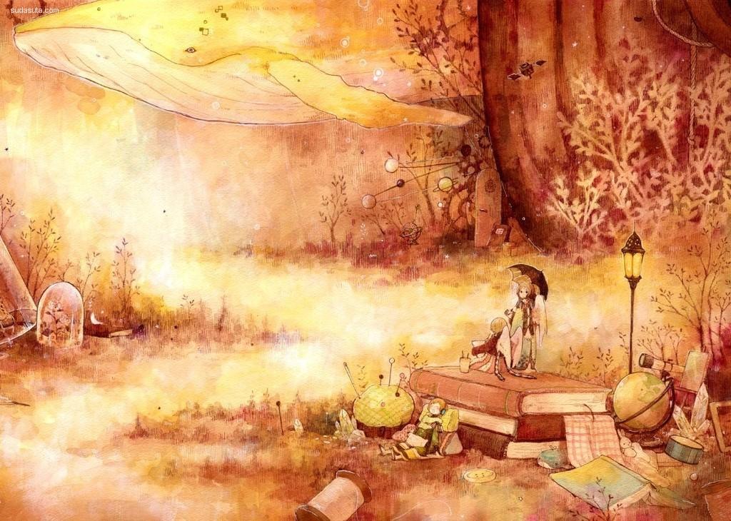 メイ 清新自然的水彩插画