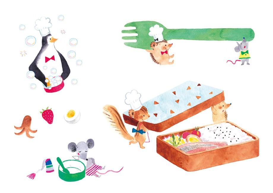 画师おおでゆかこ 清新唯美的儿童插画