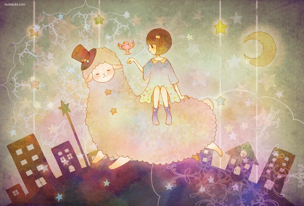 ぴよな 治愈的色彩 儿童插画欣赏