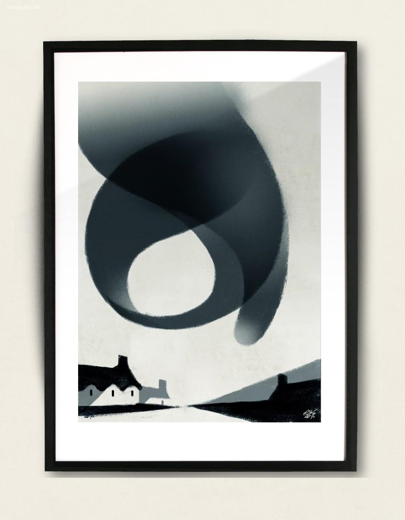 Riccardo Guasco 绘画艺术《Stormi》