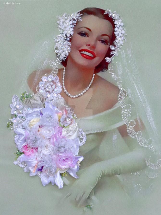Tetiana Korobeinyk 立体丝绸艺术 花卉设计欣赏