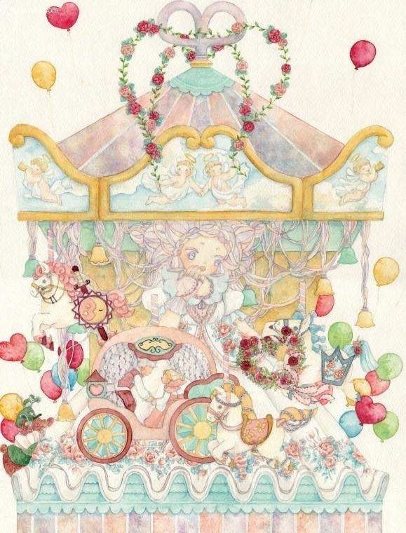 あす菜 清新可爱的水彩插画