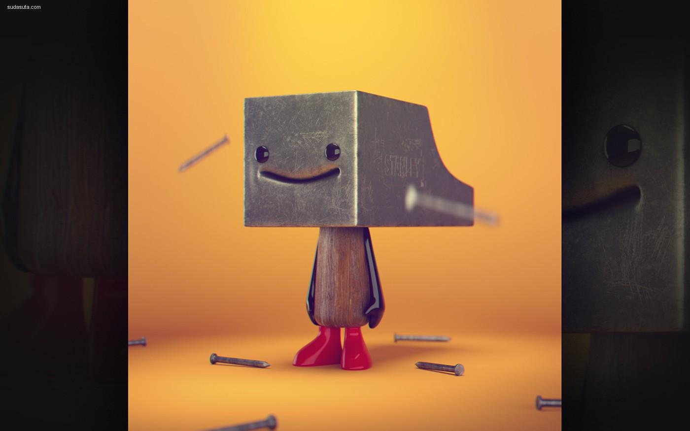 Zigor Samaniego 可爱的3D怪物造型设计