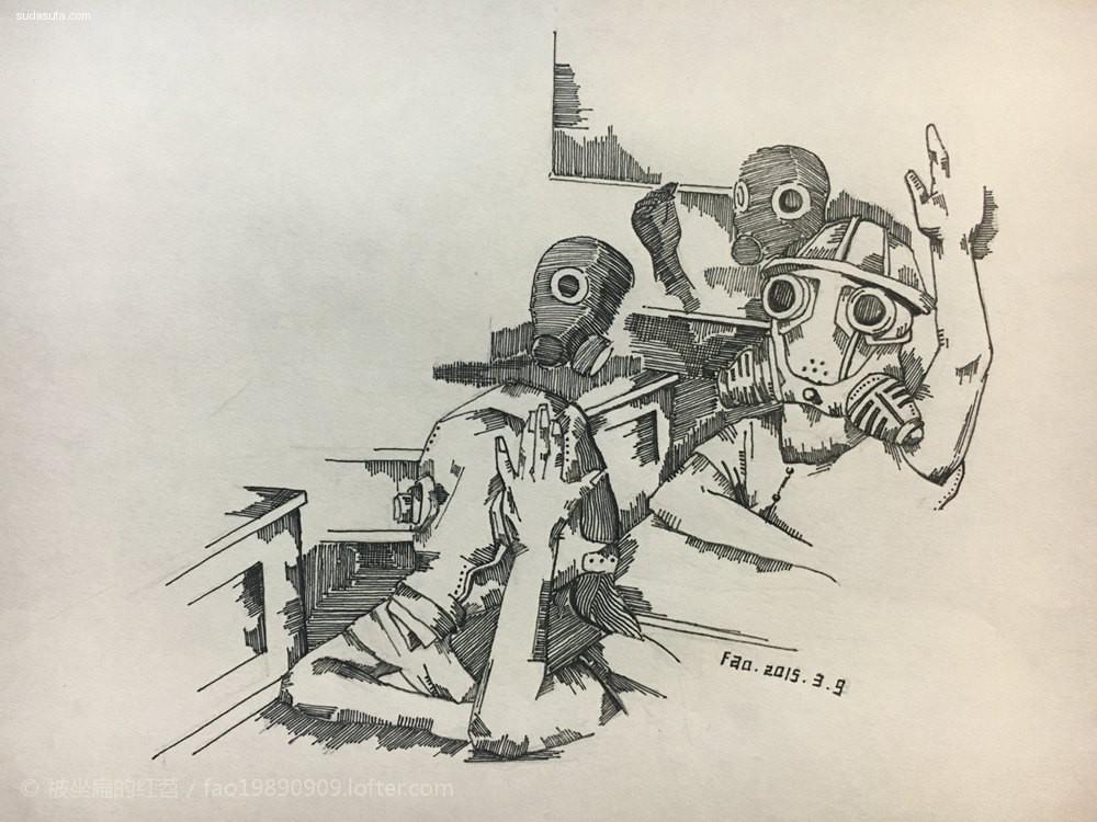 -Fao- 原创系列插画《Radiation》