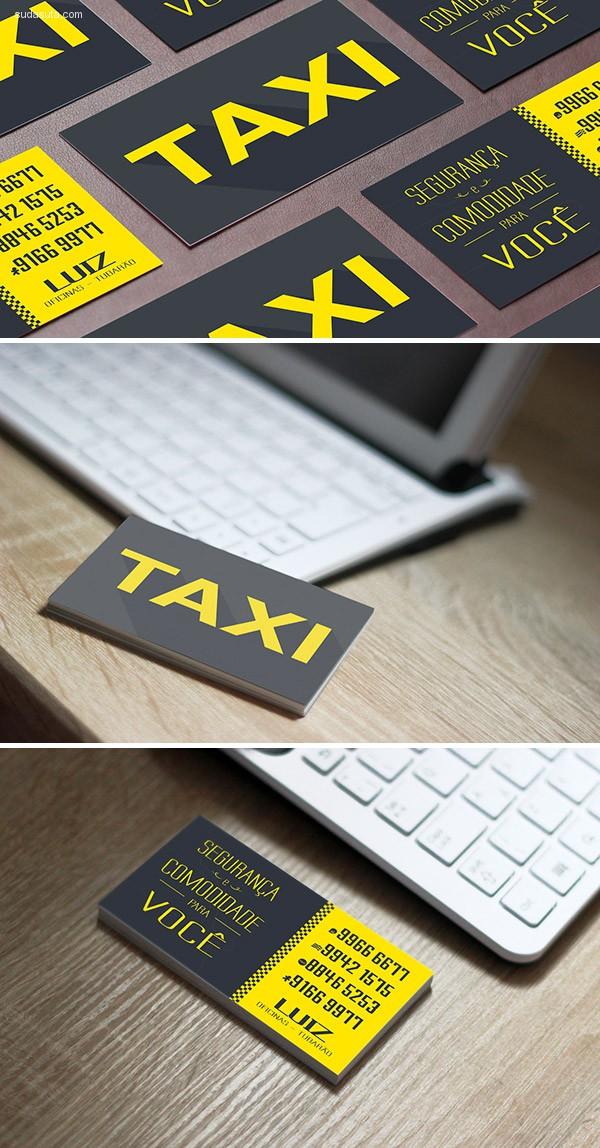 出租车业务主题名片设计欣赏