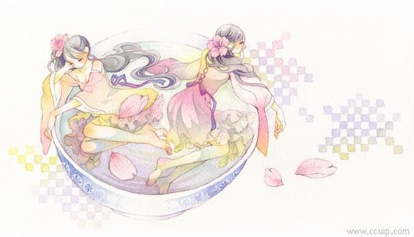 友风子 清新恋爱的水彩画集