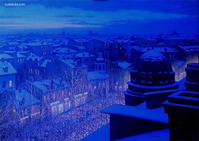 Alexey Butyrsky 城市夜景