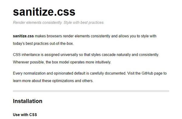 17个CSS库和框架 免费下载
