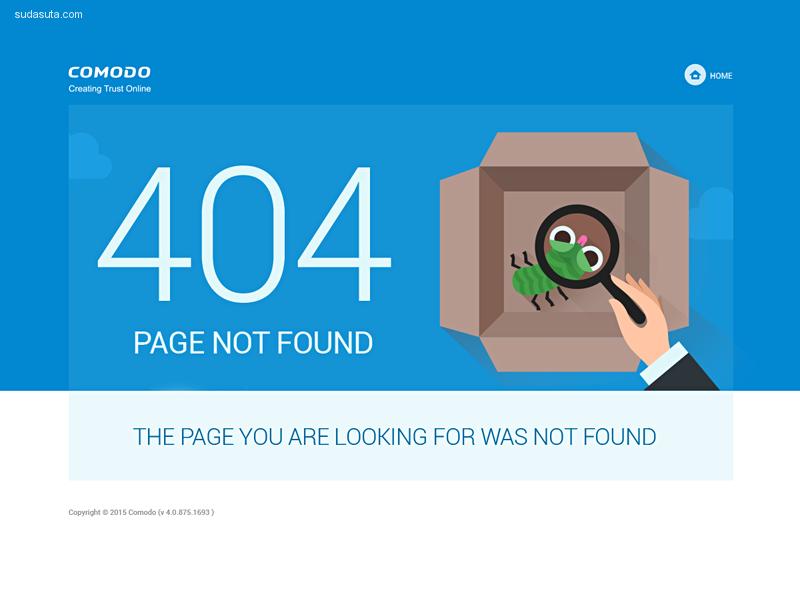 30个扁平化风格的404错误页面创意设计欣赏