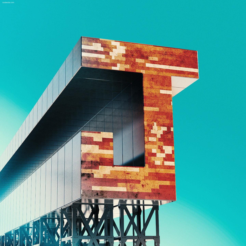 Flavio Montiel 立体字母设计欣赏