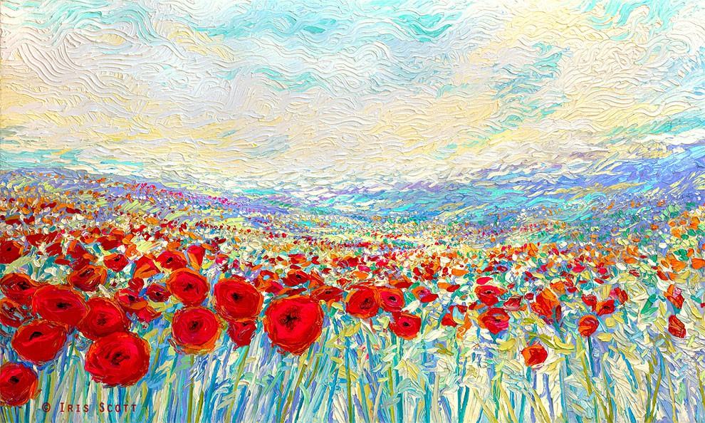 Iris Scott 满满色彩的绘画艺术