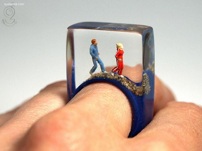 Isabell Kiefhaber 树脂手工戒指设计欣赏