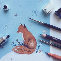 Nina Stajner 清新安静的手绘插画