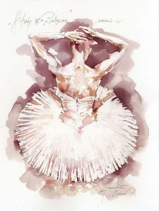 Sanja Jankovic 用红酒作画