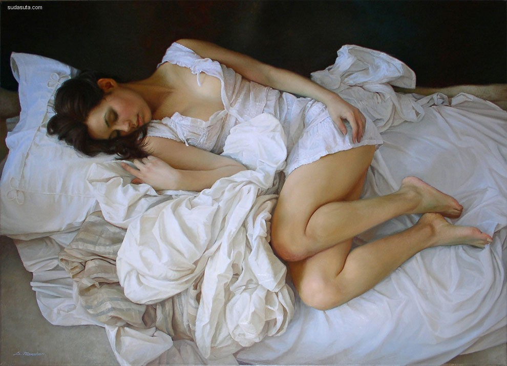 Sergey Marshennikov 古典主义女性肖像插画欣赏