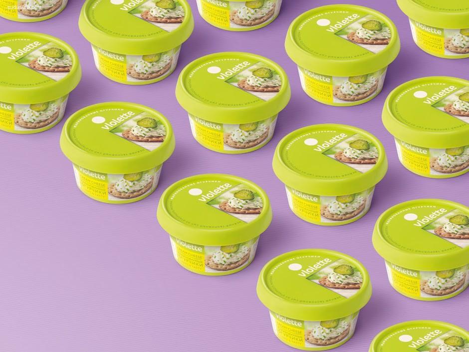 好心情=紫罗兰奶油奶酪 包装设计欣赏