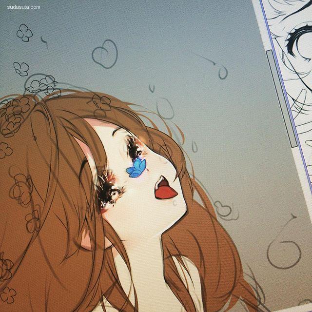 hieihirai 华丽丽的少女漫画CG欣赏