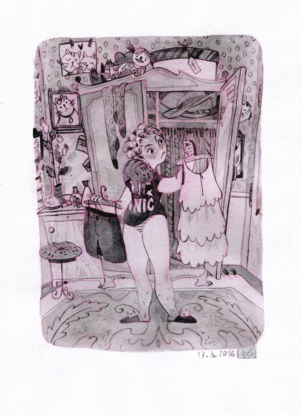 suwi 手绘卡通插画欣赏