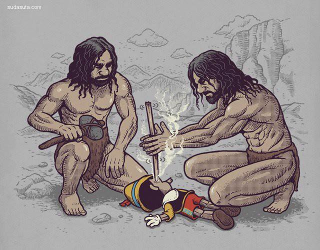 Ben Chen 的黑色幽默卡通插画