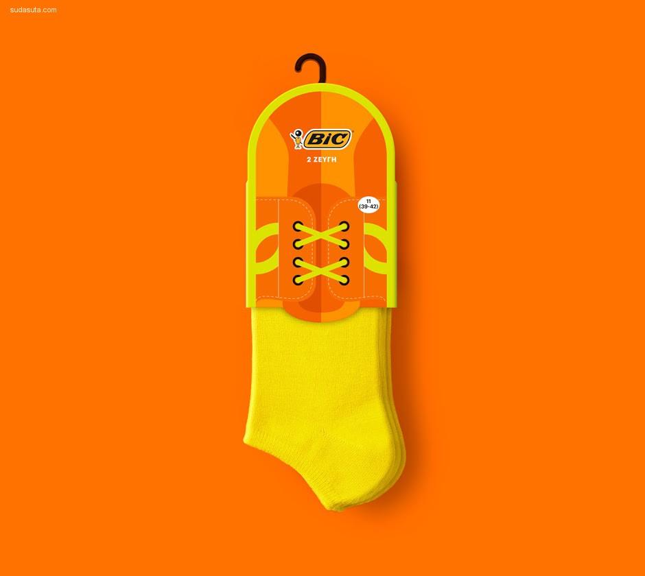 Bic 充满色彩的袜子们 包装设计欣赏