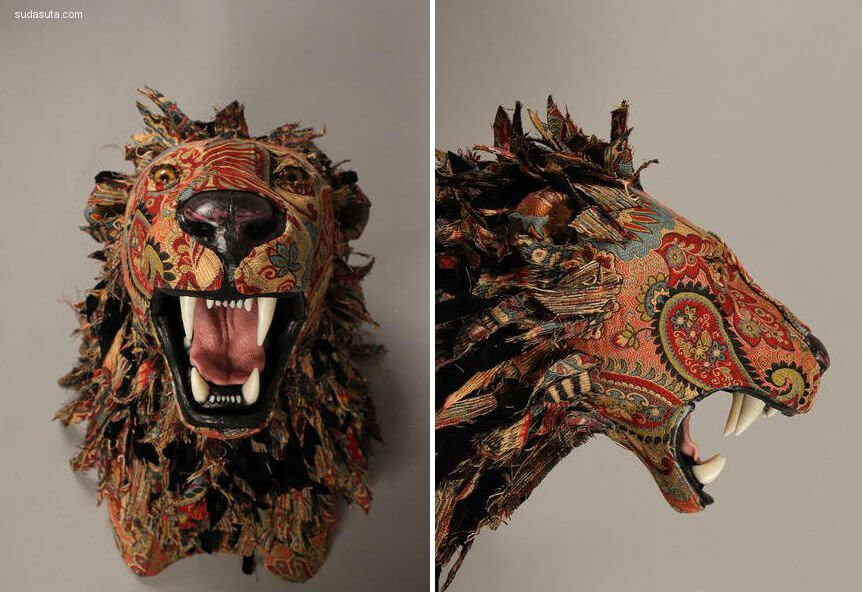 Kelly Rene Jelinek 仿动物标本的纺织物装置设计欣赏