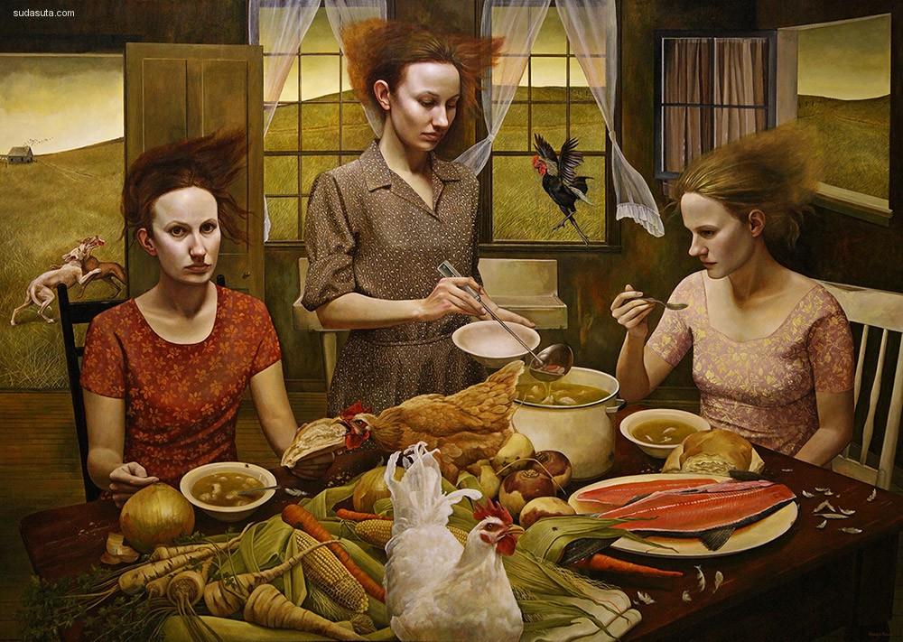 Andrea Kowch 超现实主义绘画艺术欣赏